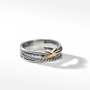 Crossover Ring with  Special Design In Sterling Silver