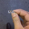 2.8 CT Three Stones Round Brilliant Stone Sterling Silver Engagement Ring