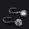 Classic Round Cut Drop Earrings In 925 Sterling Silver
