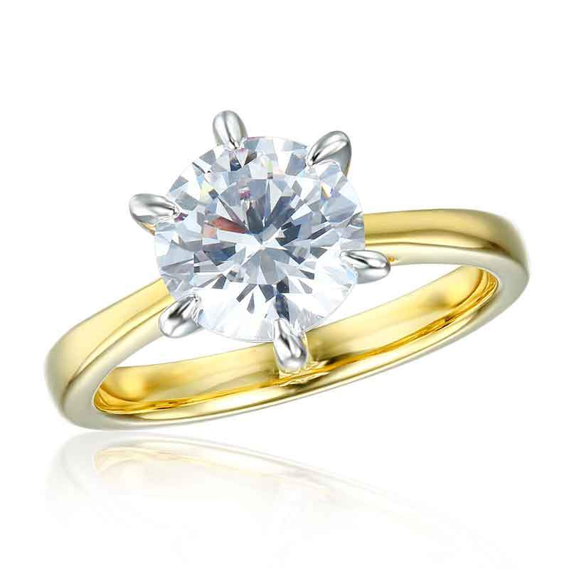 Classic 1.70 Ct Brilliant cut Solitaire Engagement Ring
