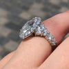 4.68 Oval Cut Halo Sterling Silver Engagement Ring