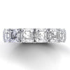 4.2 ct Asscher Cut Sterling Silver Wedding Band