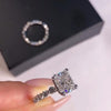 3.2 CT Stuning Radinat Cut Sterling Silver Engagement Ring Set