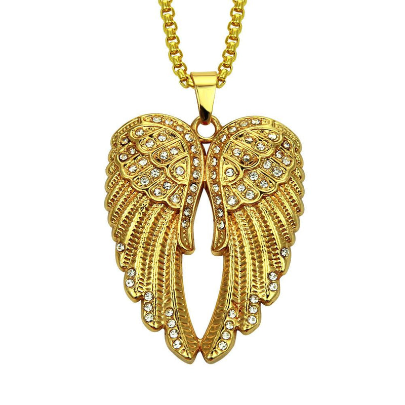 Bling Bling Angel Wings Pendant Chain Necklace