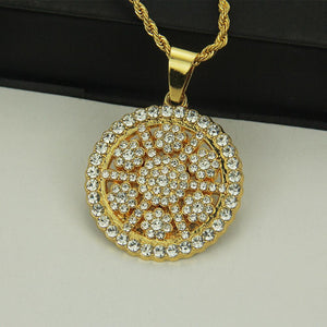 Sunflower Bling Bling Pendant  Twist  Chain  Necklace