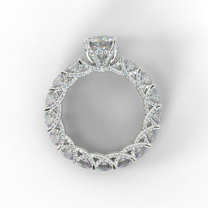 11.85 CT Round Cut Sterling Silver Wedding Set