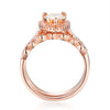1.59 Ct Rose Gold Pear Cut With Brilliant Cut Sterling Silver Wedding Set