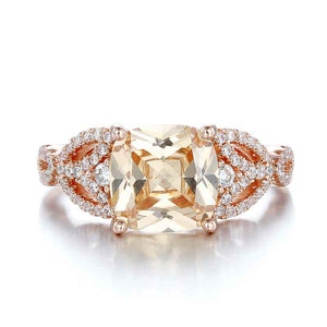 Nature Inspired 3 Ct Cushion Cut Engagement Ring