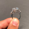 3.5CT Round Cut Sterling Silver Engagement Ring