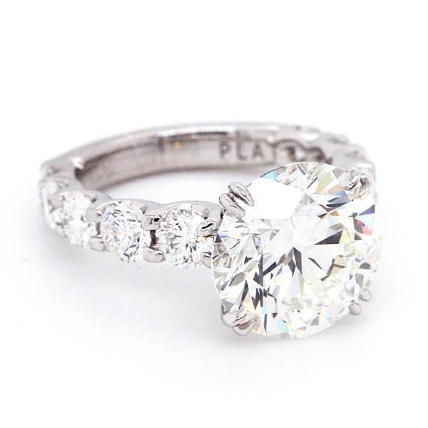 6.05 CT Round Cut Sterling Silver Engagement Ring