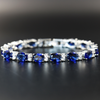 20 CT Oval Cut Lab-created Sapphire Bracelet