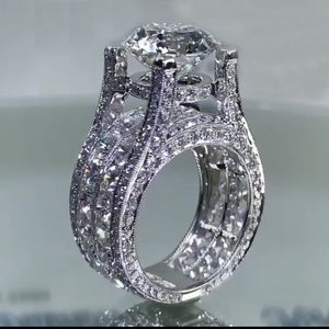 2 CT Round Brilliant Lab-created Diamond Engagement Ring in 925 Sterling Silver