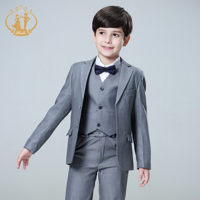 Suit for Boy Single Breasted Boys Suits for Weddings Costume Enfant Garcon Mariage Boys Blazer Jogging Garcon Grey