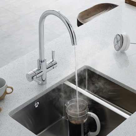 Lamona Chrome Arroscia 3 in 1 hot water tap (TAP6000)