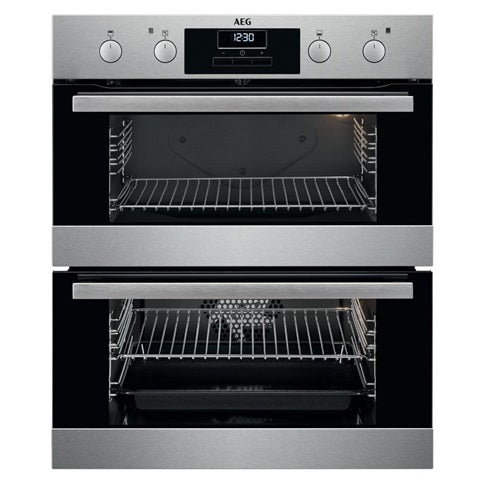 AEG Built Under Multi-Function Double Oven - Stainless Steel
