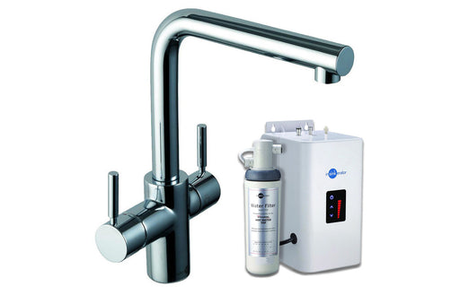 InSinkErator 3N1 L Shape Tap, Neo Tank & Filter Pack - Brushed Steel