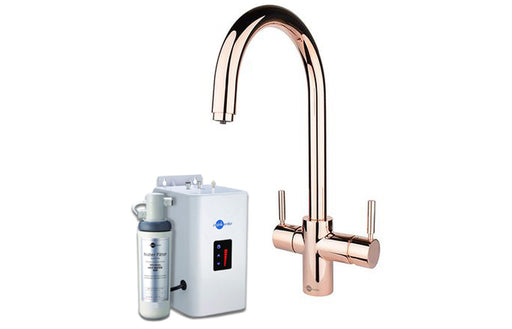 InSinkErator 3N1 J Shape Tap, Neo Tank & Filter Pack - Rose Gold