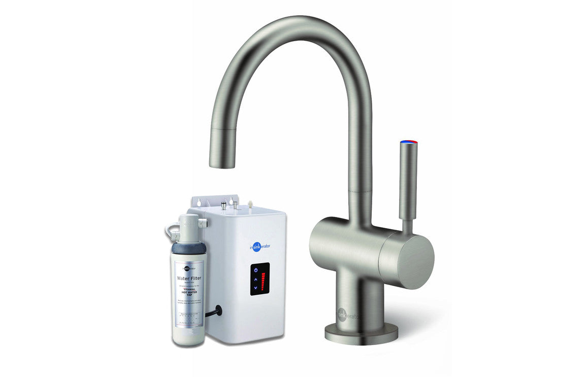 InSinkErator HC3300 Hot/Cold Mixer Tap, Neo Tank & Water Filter - Brushed Steel