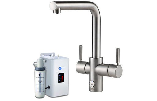 InSinkErator 4N1 L Shape Tap, Neo Tank & Filter Pack - Brushed Steel