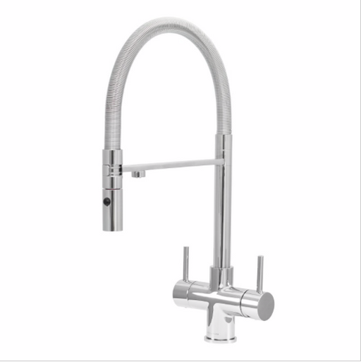 Acquapuro Aquila 3-Way 2 Lever Chrome Kitchen Mixer Tap
