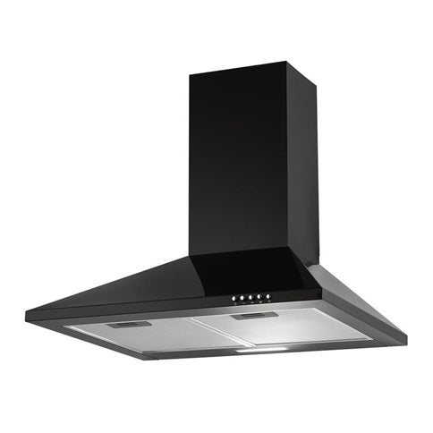 LAM2411 A Lamona Black Chimney Extractor 60cm