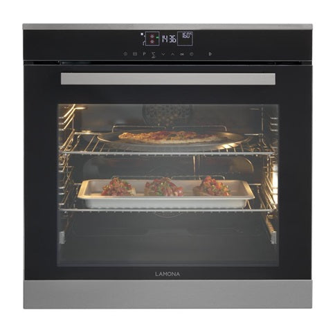LAM3675 A Lamona Built In Electric 60cm Black Single Oven