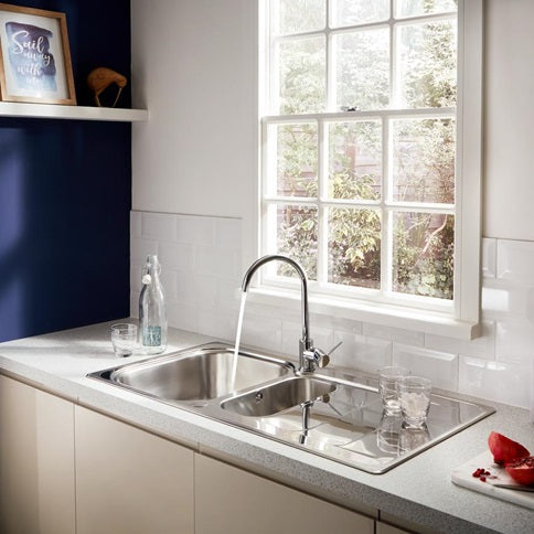 TAP3400 Lamona Chrome Alvo Swan Neck Single Lever Tap