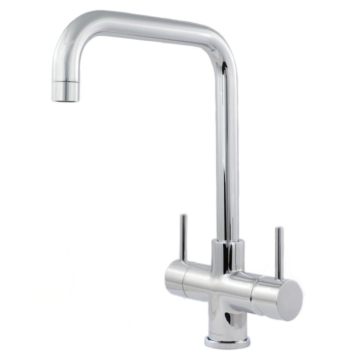 Acquapuro Monza 2 Lever, 3 Way Kitchen Tap - Chrome