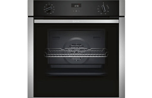 Neff N50 B3ACE4HN0B B/I Single Slide&Hide® Electric Oven - St/Steel