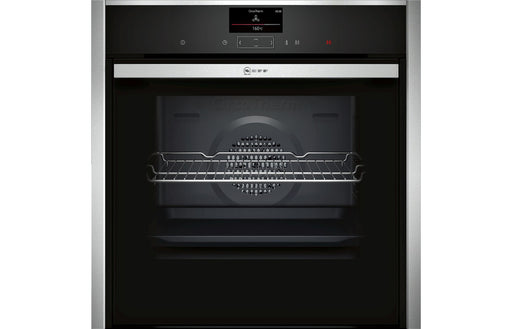 Neff N90 B57CS24H0B B/I Single Slide&Hide® Pyrolytic Oven - St/Steel
