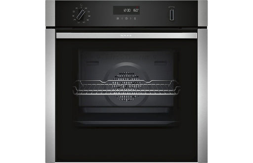 Neff N50 B5ACM7HN0B B/I Single Slide&Hide® Pyrolytic Oven - St/Steel
