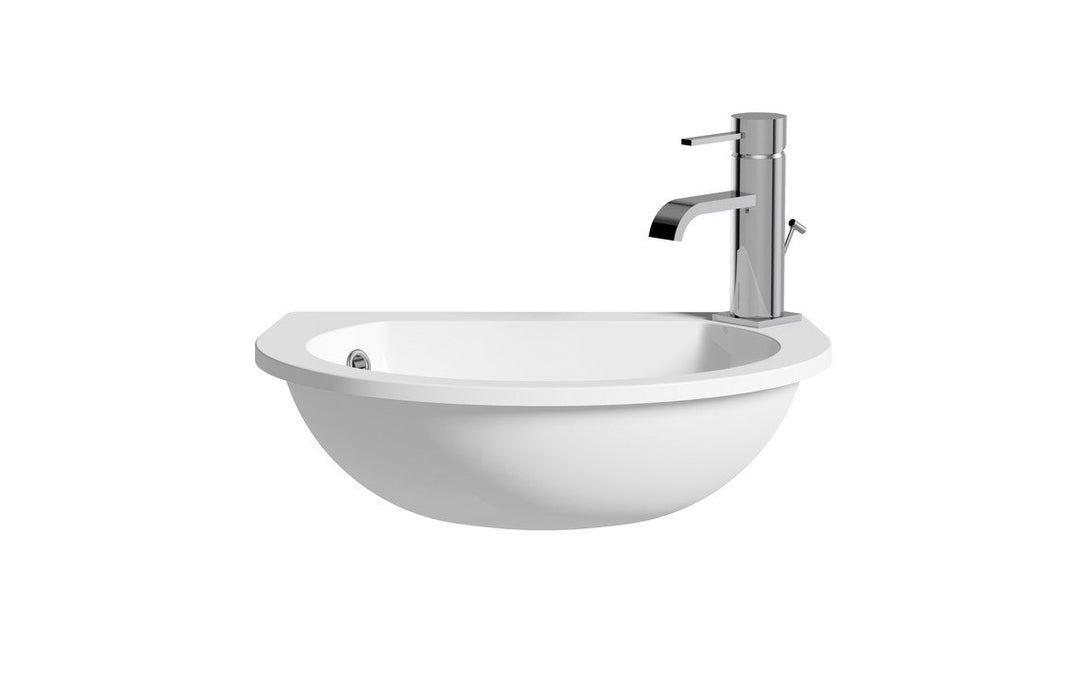Space Saver 490x355mm 1TH Semi Recessed Basin
