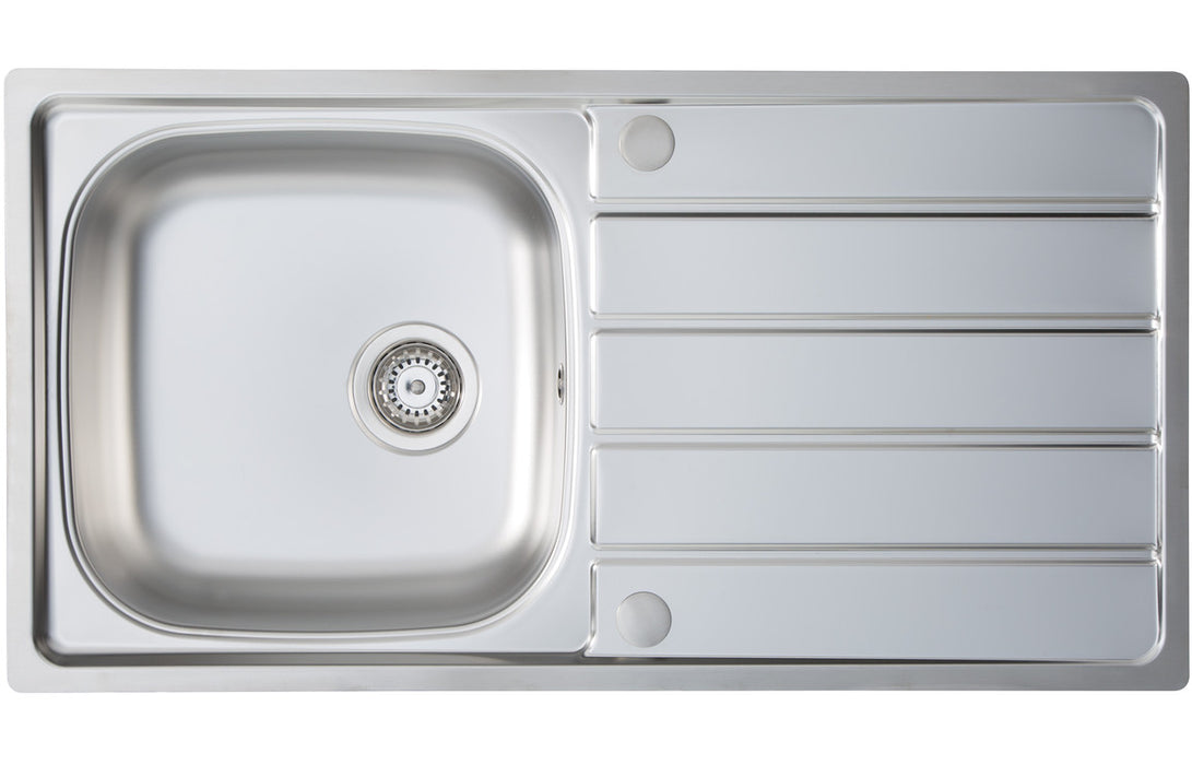 Prima 1B 965x500mm Inset Sink - St/Steel