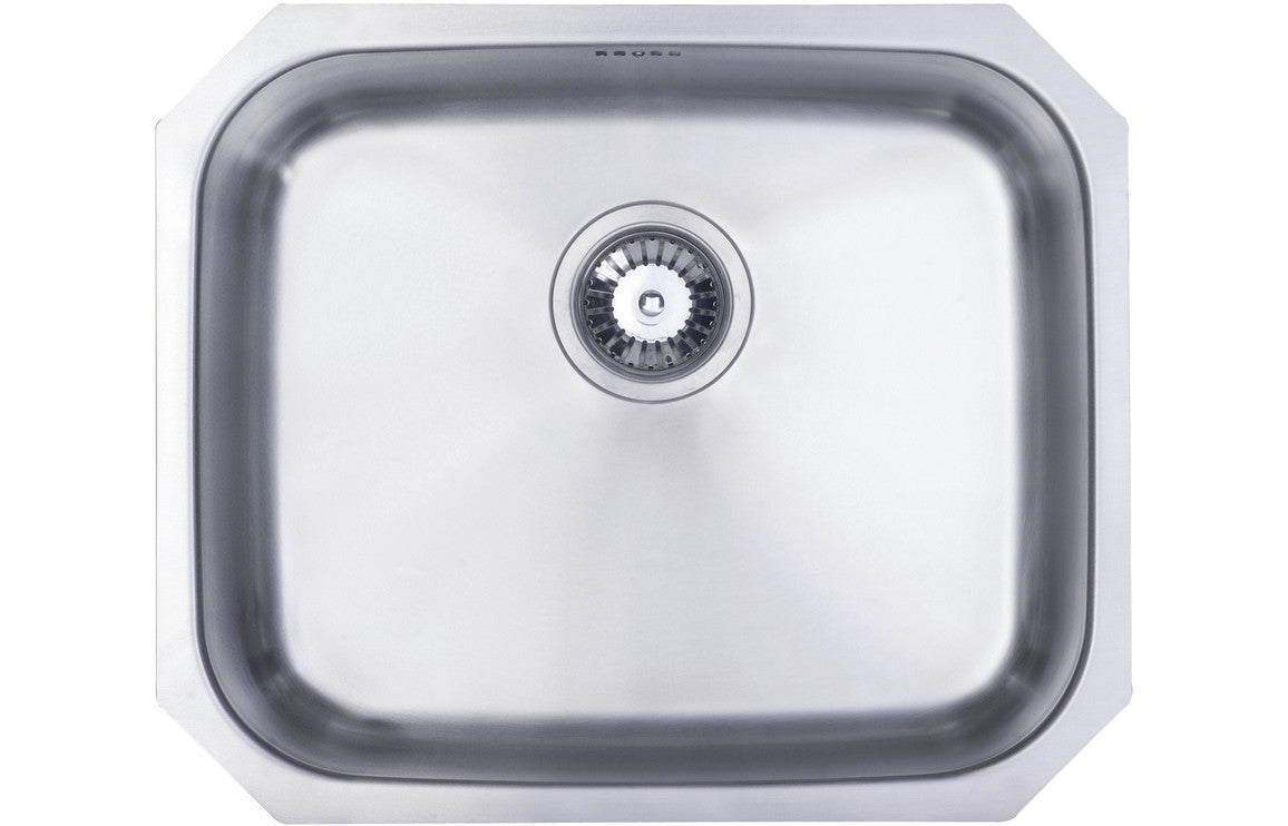 Prima 1B Large Undermount Sink - Polished Steel