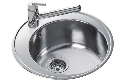 Teka Centroval 45 Single Round Bowl Inset Sink - St/Steel