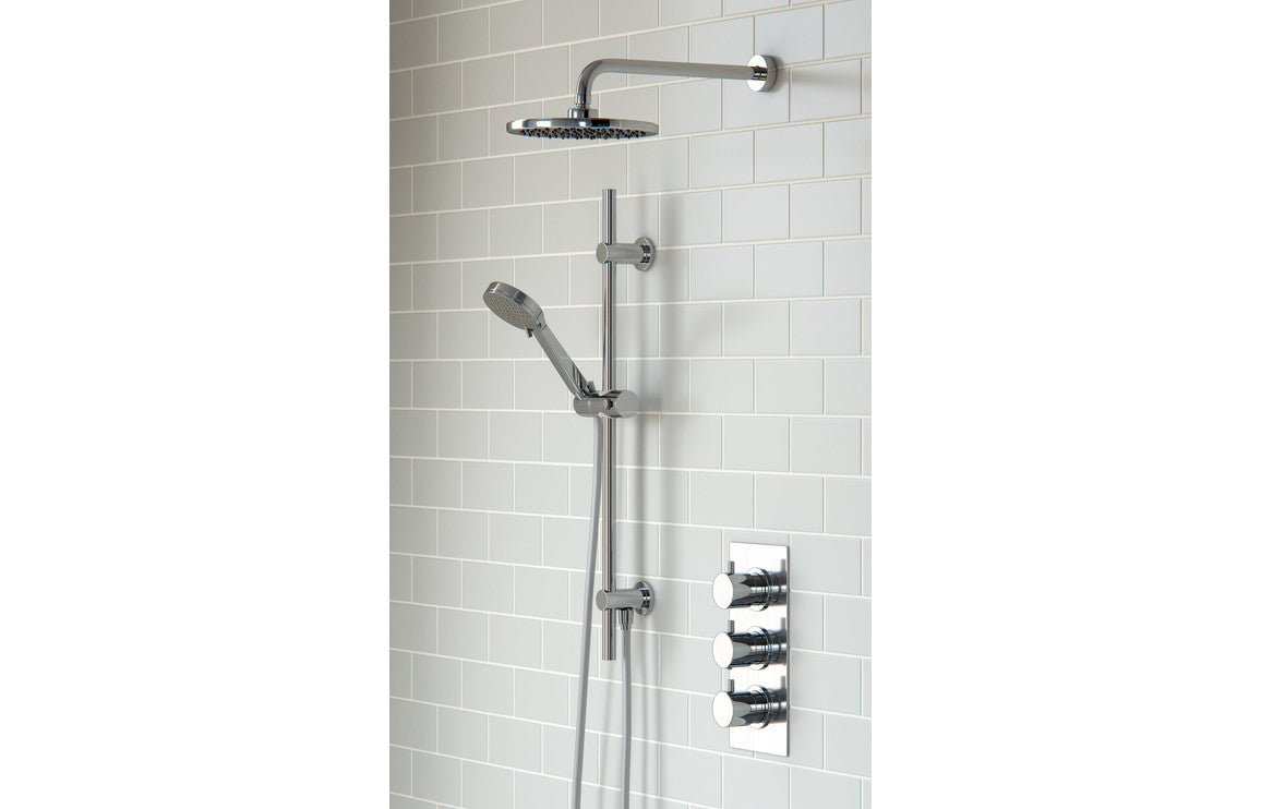 Round Shower Pack 7 - Circa Triple Two Outlet & Riser/Overhead Kit