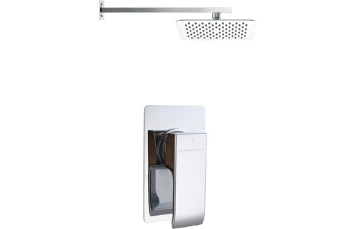 Square Shower Pack 2 - Cubic Single Lever & Slim Overhead Shower