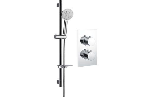 Round Shower Pack 1 - Circa Twin Single Outlet & Riser Kit