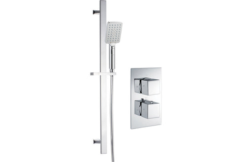 Square Shower Pack 1 - Kuba Twin Single Outlet & Riser Kit
