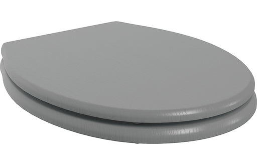 Lucia Soft Close Wood Effect Toilet Seat - Grey Ash