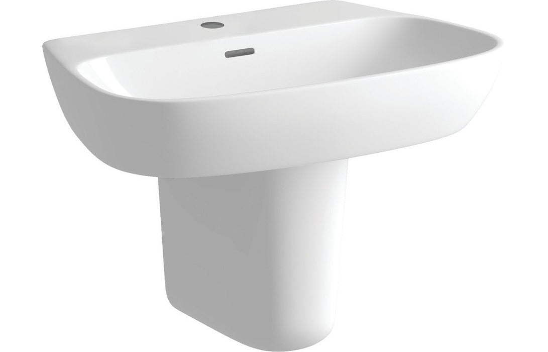 Tilia 600x400mm 1TH Basin & Semi Pedestal