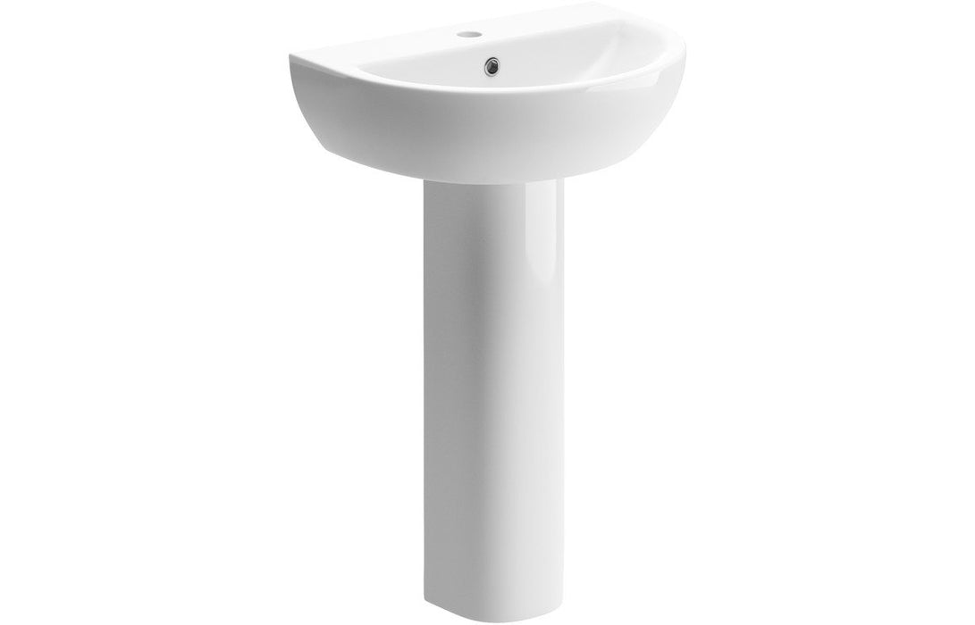 Tuscany 550x400mm 1TH Basin & Full Pedestal