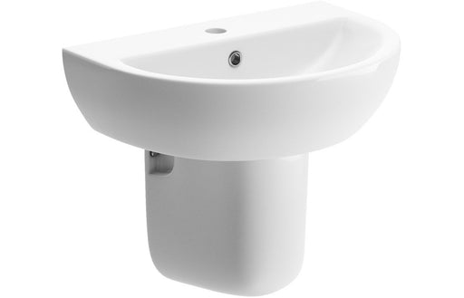 Tuscany 550x400mm 1TH Basin & Semi Pedestal