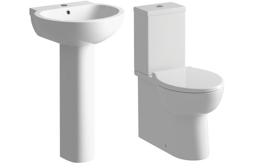 Mimosa Full Pedestal Basin & Toilet Set