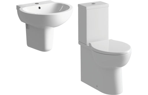 Mimosa Semi Pedestal Basin & Toilet Set
