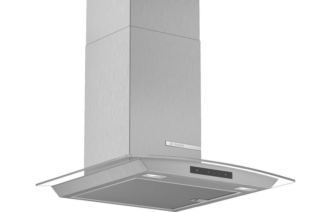 Bosch Serie 4 DWA66DM50B 60cm Curved Glass Chimney Hood - Brushed Steel