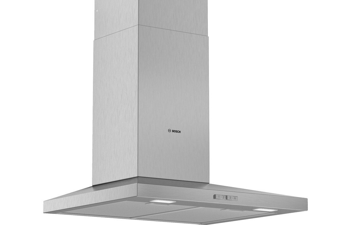 Bosch Serie 2 DWQ64BC50B 60cm Slim Pyramid Chimney Hood - Brushed Steel