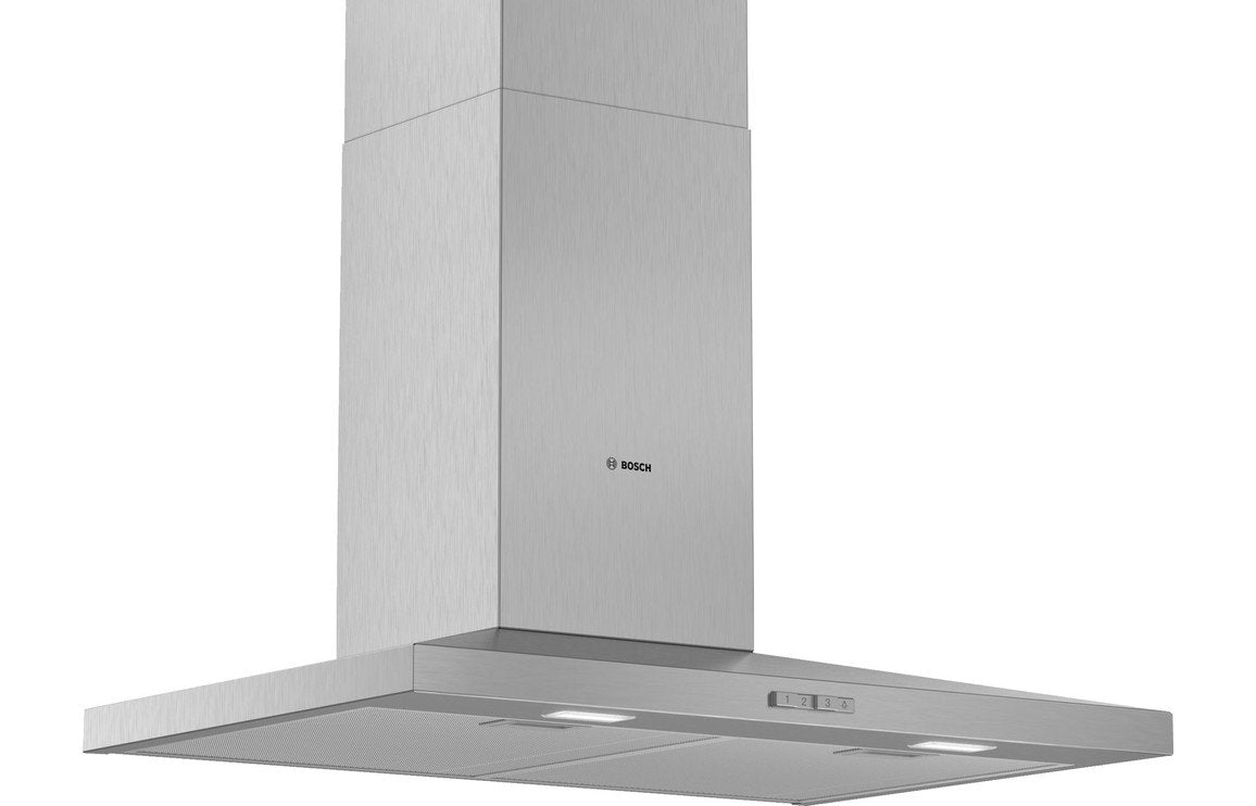 Bosch Serie 2 DWQ74BC50B 70cm Slim Pyramid Chimney Hood - Brushed Steel