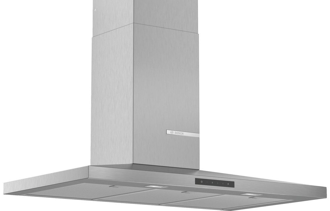 Bosch Serie 4 DWQ96DM50B 90cm Slim Pyramid Chimney Hood - Brushed Steel