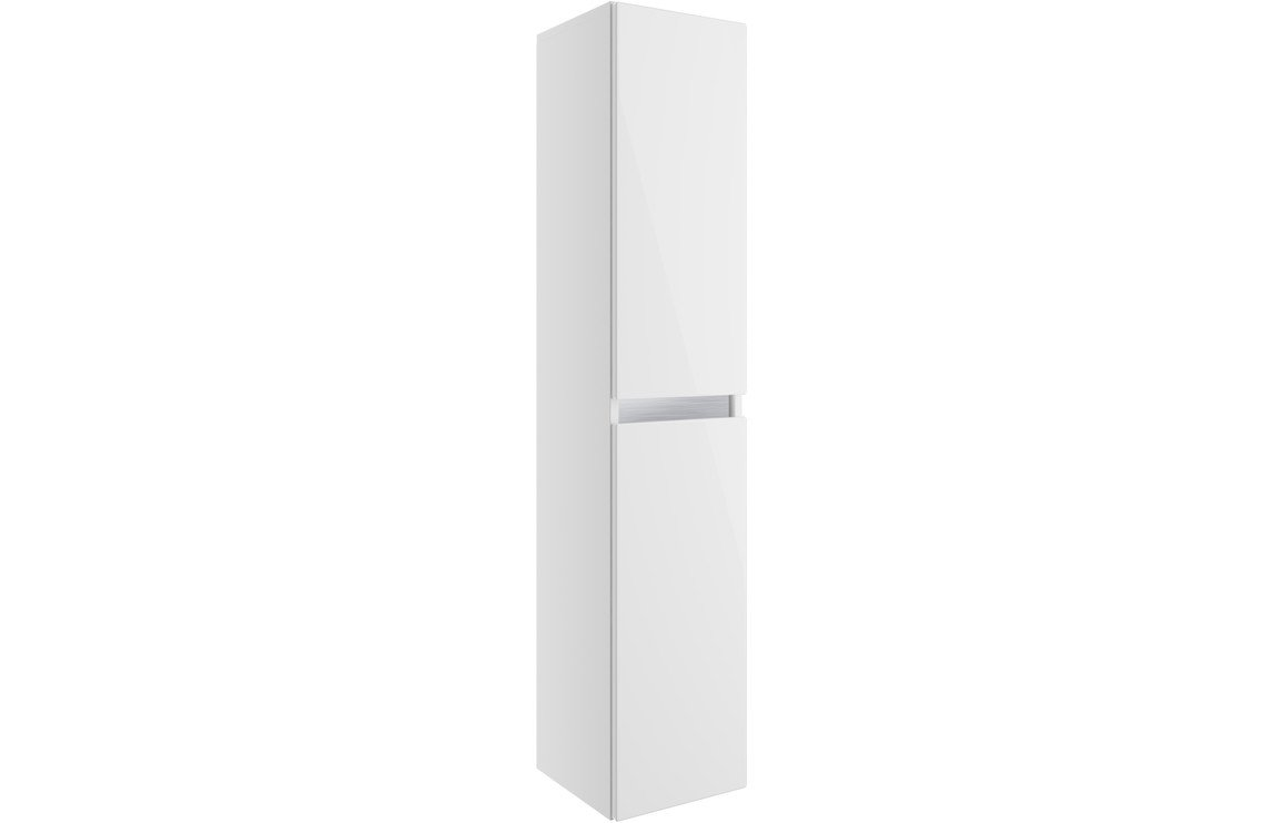 Carino 300mm 2 Door Wall Hung Tall Unit - White Gloss